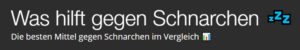 washilftgegenschnarchen-Logo